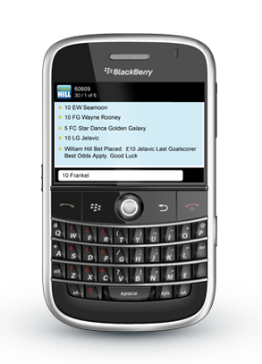 Mobile phone for text betting